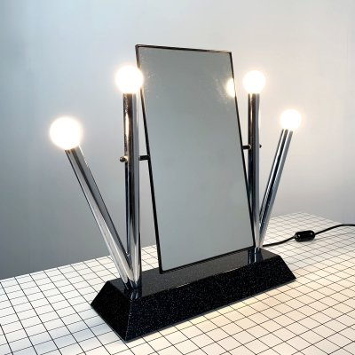 Yucca Table Mirror by Anna Anselmi for Bieffeplast, 1980s