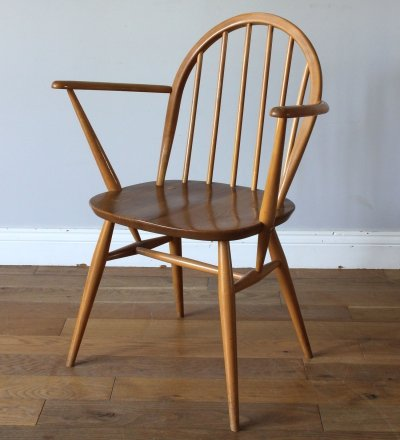 Rare Vintage Ercol Windsor F182 Carver Dining Chair