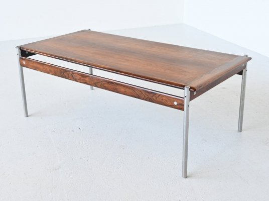 Sven Ivar Dysthe model 1001 rosewood coffee table by Dokka Mobler, Norway 1959