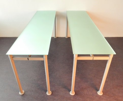 4 x 'M' desk table by Luc Vincent for Bulo, Belgium 1990's