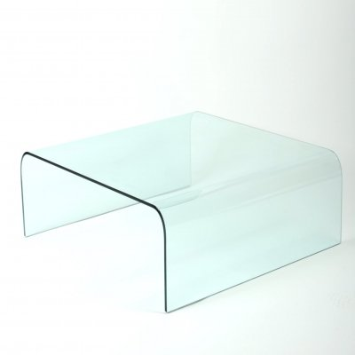 Glass waterfall coffee table, 1970s