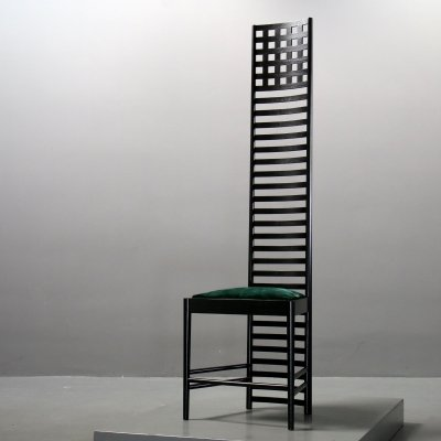 Hill House Chair 1 by CR Mackintosh for Cassina, Labeled 1970s