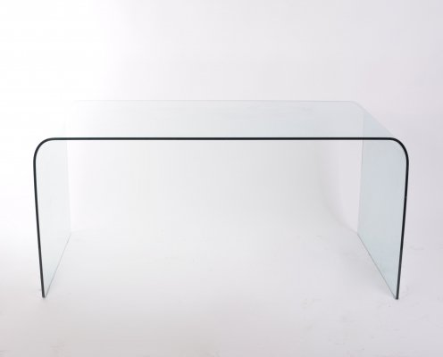 Glass 'Falling Water' writing desk, 1970s
