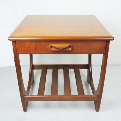 Mid-Century Teak Side Table With Magazine Rack for G-Plan, 1960s