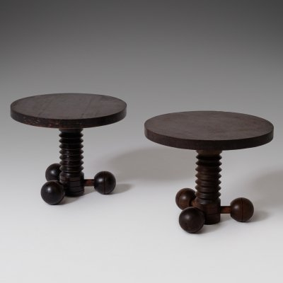 Charles Dudouyt Side Tables, France 1940's
