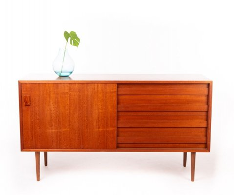 Vintage Danish sideboard by Dammand & Rasmussen with sliding door & drawers