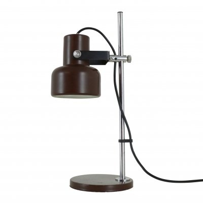 Quality adjustable desk light in brown, 1970s