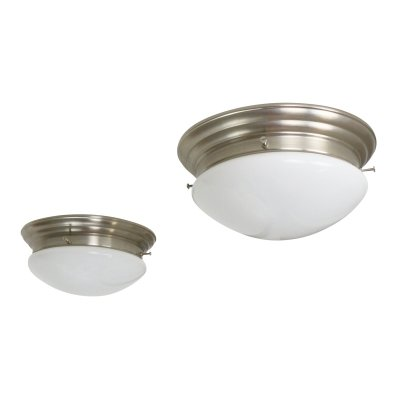 Pair of art deco style ceiling lights, 1980s