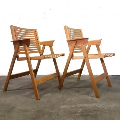 Set of two Rex folding dining chairs by Niko Kralj for Rex