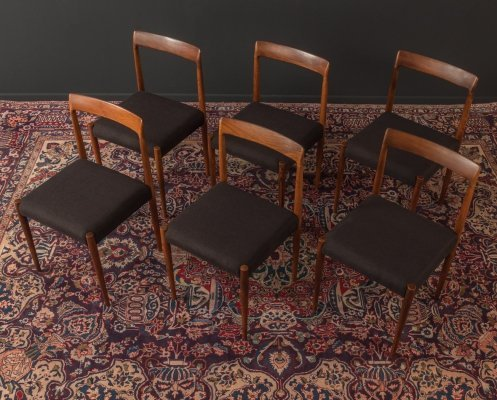 Set of 6 dining chairs by Lübke, Germany 1960s