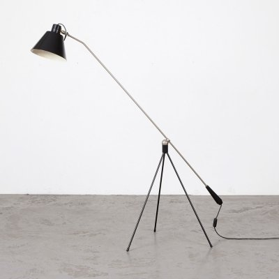 H. Fillekes Magneto Floor Lamp for Artiforte, 1950s
