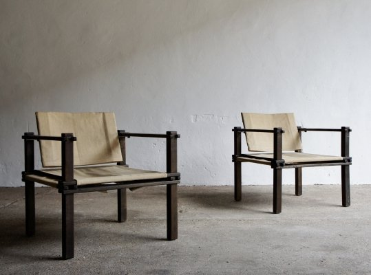 Pair of Farmer Safari Chairs by Gerd Lange for Bofinger