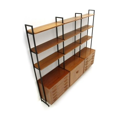 Bookcase with 2 drawers & shelves, 1960s
