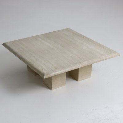 Italian travertine coffee table, 1970s