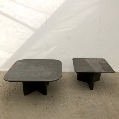 Mid century Brutalist fossil coffee tables by Draenert, 1970s