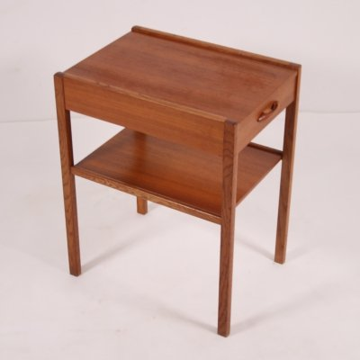 Vintage teak bedside table, Scandinavia 1960s