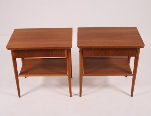 Set of bedside tables, Scandinavia 1960s