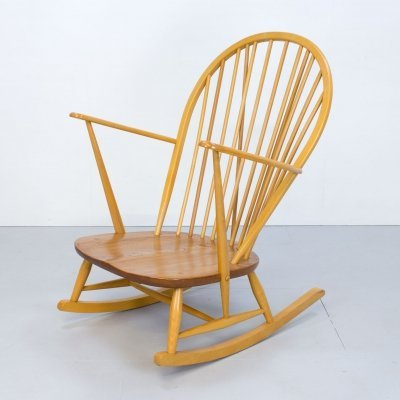 Ercol Windsor Grandfather Beech & Elm Rocking Chair