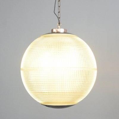 Parisian Holophane Globe Light, Circa 1950s