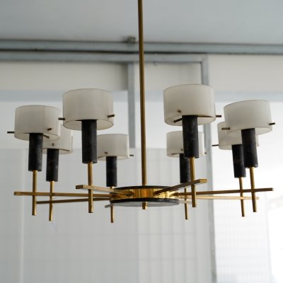 Rare chandelier by Angelo Brotto for Esperia, Italy 1950s