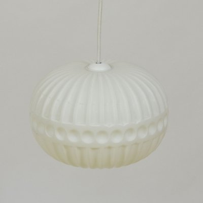 1970s white pendant light