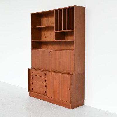 Domino Mobler teak bookcase wall unit, Denmark 1960