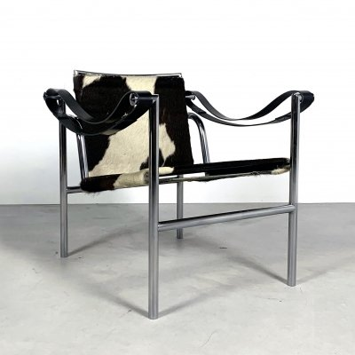 Cow Hide LC1 Armchair by Le Corbusier for Cassina, 1970s