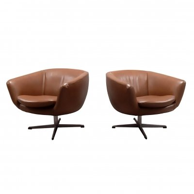 Pair of Overman Sweden lounge chairs, 1970s