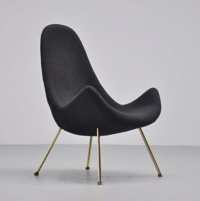 Fritz Neth organic lounge chair, Germany 1950