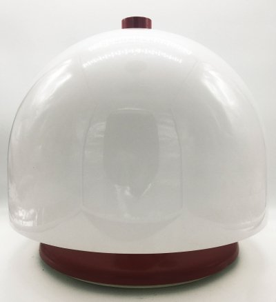 1970s Space Age Red & White Table Lamp