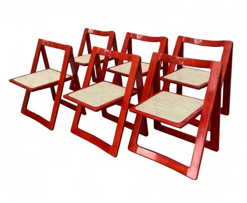 Set of 6 Jacober & d'Aniello 'Trieste' Folding Chairs for Bazzani, 1966