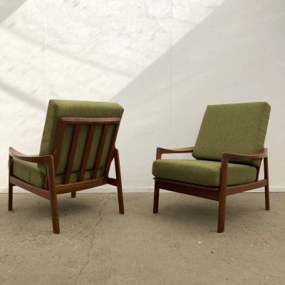 Pair of Danish lounge chairs by Bahus, 1950s