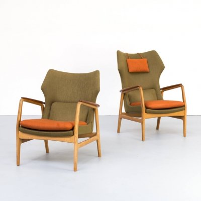 Pair of Aksel Bender Madsen 'Karen & Edith' chairs for Bovenkamp, 1960s