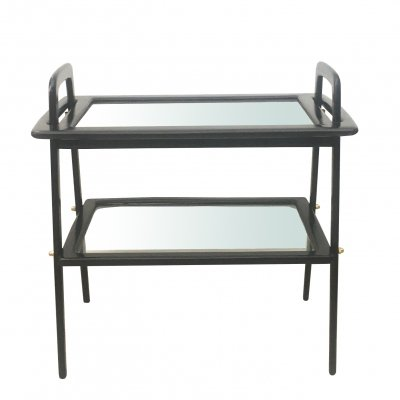 Italian Wood & Glass Coffee Table by Ico Parisi for De Baggis, 1950s