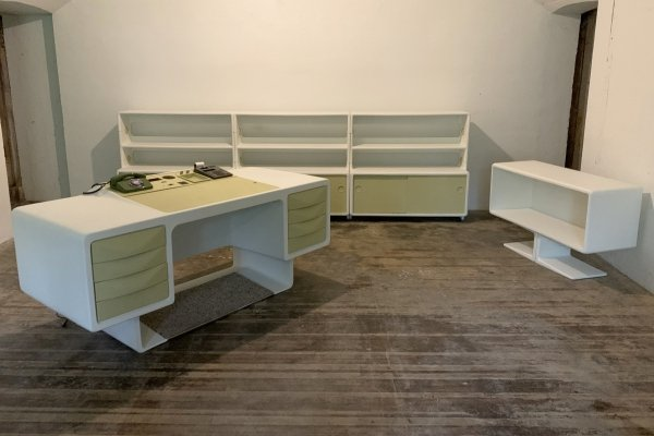 Directors writing desk & wall unit by Ernest Igl for Wilhelm Werndl, 1970s