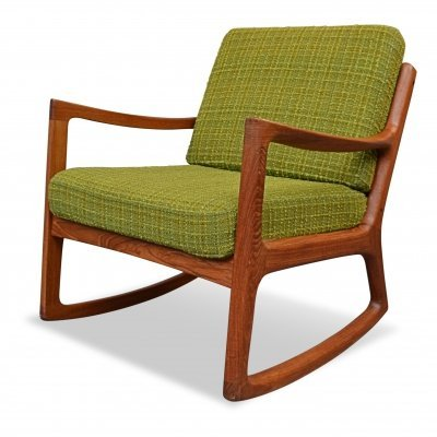 Vintage Danish design Ole Wanscher teak rocking chair