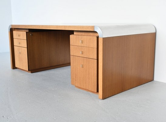 Preben Fabricius & Jorgen Kastholm massive desk by Kill International, Germany 1970