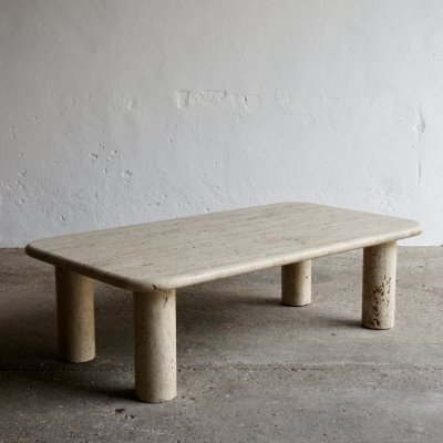 Travertine Coffee Table, 1980s