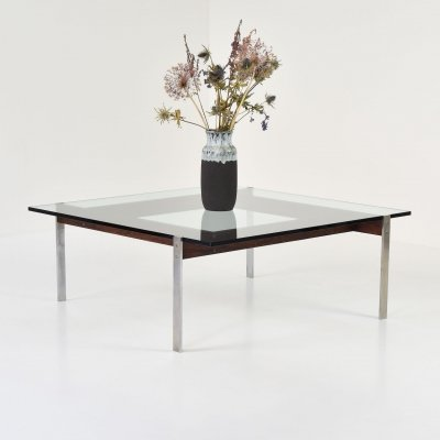 Square Modernist coffee table, 1950's