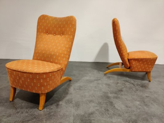 Pair of Congo chairs by Theo Ruth for Artifort, 1950s