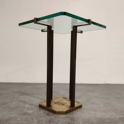 Peter Ghyczy T18 Glass & Brass Side Table