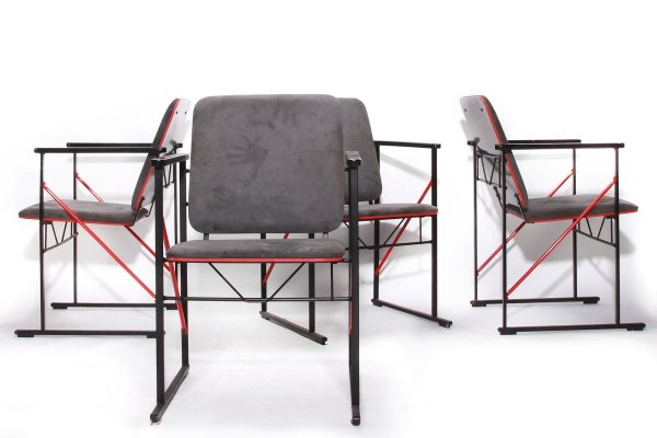 Vintage set of 4 Dining Arm Chairs by Yrjö Kukkapuro for Avarte, 1980s