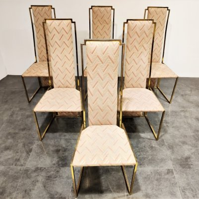 Set of 6 Belgochrom dining chairs, 1970s