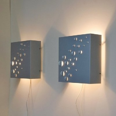 Pair of Raak Sterrenregen wall lamps, 1965