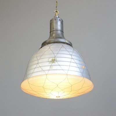 Mercury Glass Pendant Light by Adolf Meyer for Zeiss, 1930s