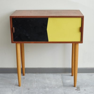 Mid-Century Black & Yellow Swedish Dresser, 1960s