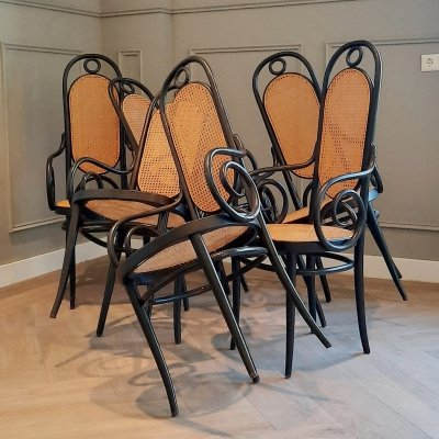 Set of 6 Nr. 207 RF Chairs by Michael Thonet for Thonet, 1970s