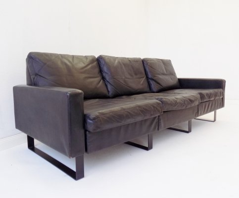 COR Conseta 3 seater sofa in black leather