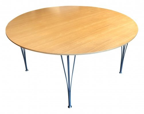XL 'Circular' Dining Table by Piet Hein & Bruno Mathsson for Fritz Hansen, 1980s