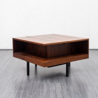 Mid Century rosewood coffee table with integrated bar, 1960s